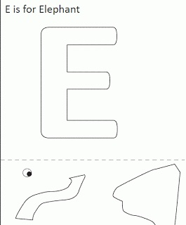 19 best images about letter e on pinterest free for Elephant template for preschool