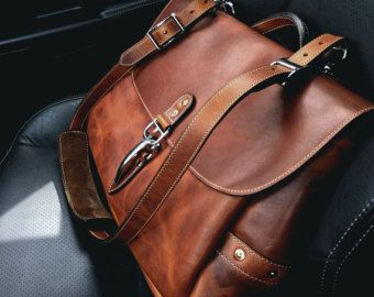 Soho 16 Mail Bag Cognac Horween Dublin By Normcahnleatherworks