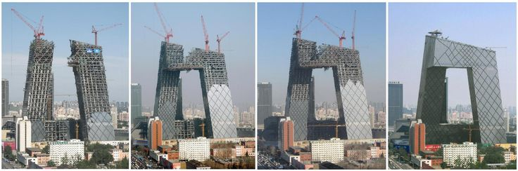 How It's Made: China Central Television (CCTV) Headquarters with stories by OMA as Architects, Inside Outside as Landscape Architects and Lighting Planners Associates Inc. as Designers