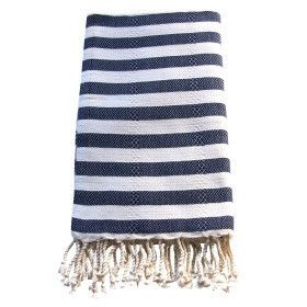Large Turkish Towel - Navy – Feather The Nest
