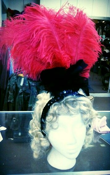 Head piece for saloon girl costume