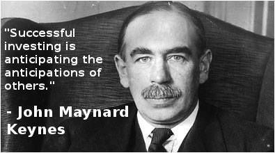 """""""Successful investing is anticipating the anticipations of others."""" -John Maynard Keynes"""