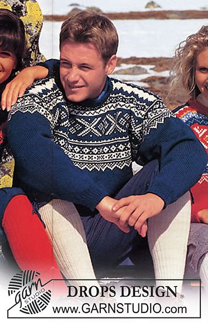 Free pattern: 32-24 Marius sweater with Nordic crystals pattern by DROPS design