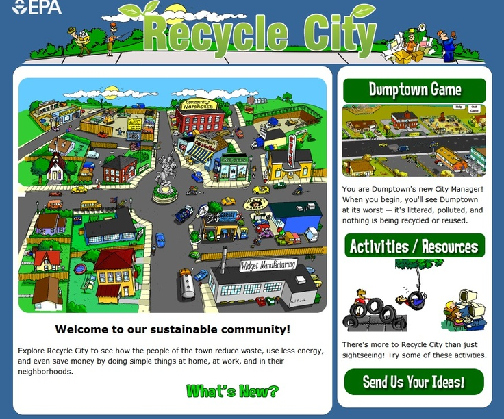 Recycle City - Interactive Website - -  Pinned by @PediaStaff – Please Visit http://ht.ly/63sNt for all our pediatric therapy pins