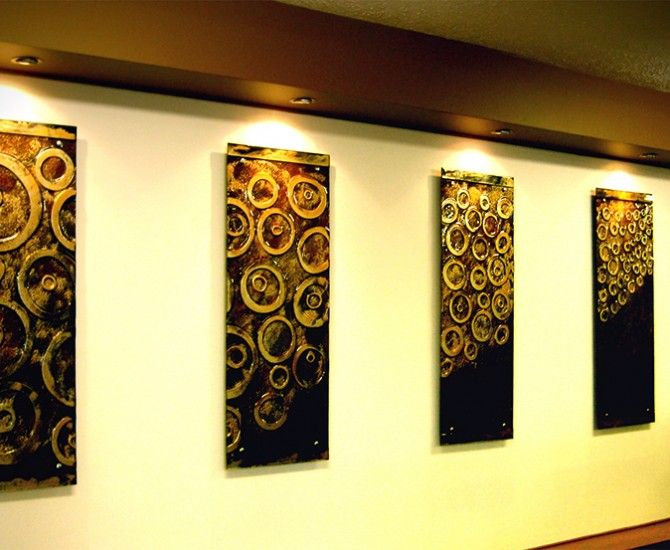 Hand painted Glass Wall Art