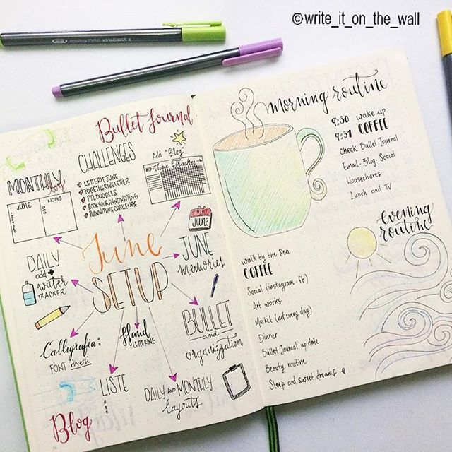 Morning/Evening Routine #rockyourhandwriting #leuchtturm #leuchtturm1917…