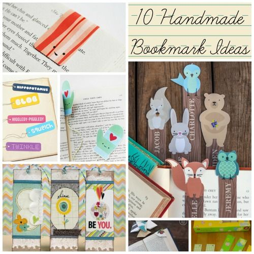 10 Handmade Bookmark Ideas: make bookmarks in a variety of styles to mark your pages!