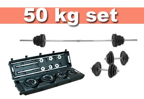 Available exclusive range of 50kg Cast Iron barbell and #dumbbells Weight Set with carry case at http://www.worldfitness.com.au/product_info.php?products_id=1183 Product features: • 50kg Cast Iron Weight Set includes • 1 x 72 inch Spinlock Bar • 2 x Spinlock Dumbell Bars • 6 x 1.25kg plate • 6 x 2.5kg plate • 4 x 5kg plate • Great value weight set for strength training at home.