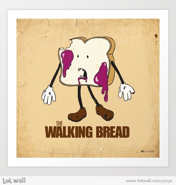 The Walking Bread - Happy drawings :)