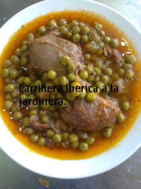 Chococinero y sus menus.: CARRILLERAS IBERICAS CON GUISANTES:4-5Raciones.