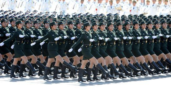 chinese military women images | PLA kicks off grand military parade