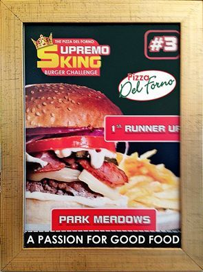 In house Supremo Burger Runner up