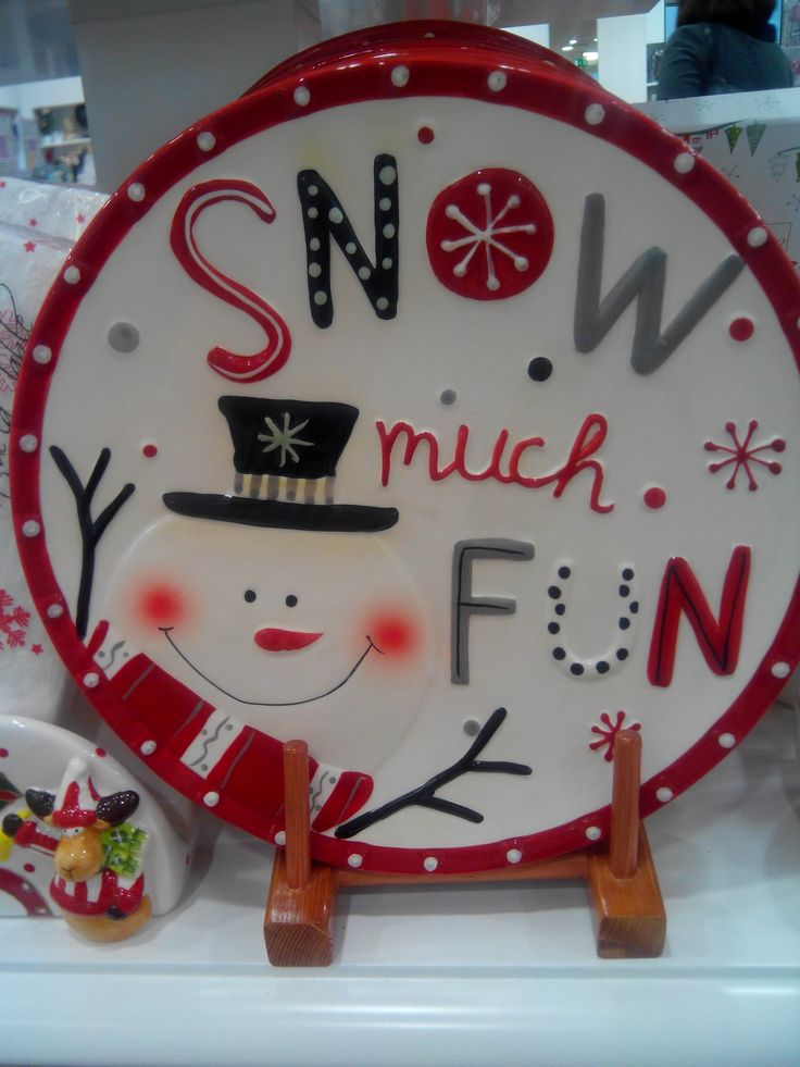 Fun Christmas plate from Carrig Donn