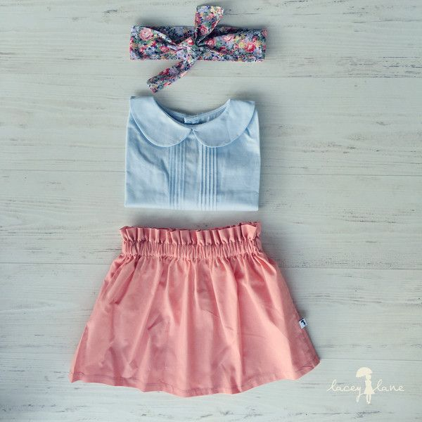 """Penny Skirt by Lacey Lane  -100% cotton  -Handmande at Lacey Lane HQ, Brisbane Australia  -Light Pink Fabric  -Elastic waistband  -Regular fit"""