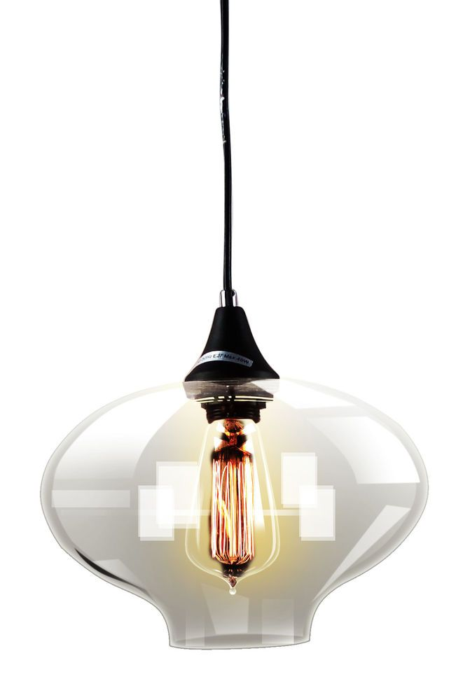 Modern Transparent Bubble Design Clear Glass Pendant Light  IT206