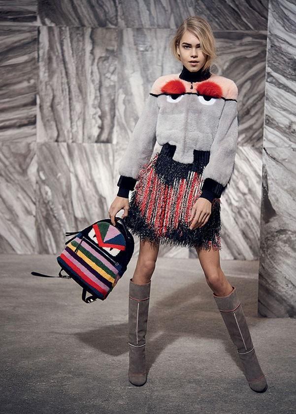 Line Brems in Fendi's Fur Autumn/Winter 2015 Lookbook