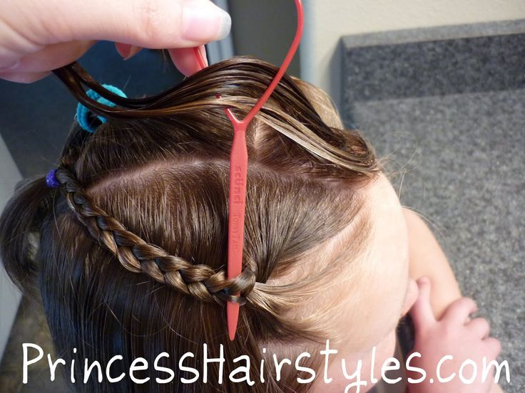 """How to make a """"Waterfall Braid"""" without actually french braiding!"""