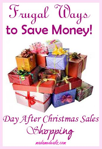 Saving Saturday: Frugal Ways to Save Money  Day After Christmas Sales