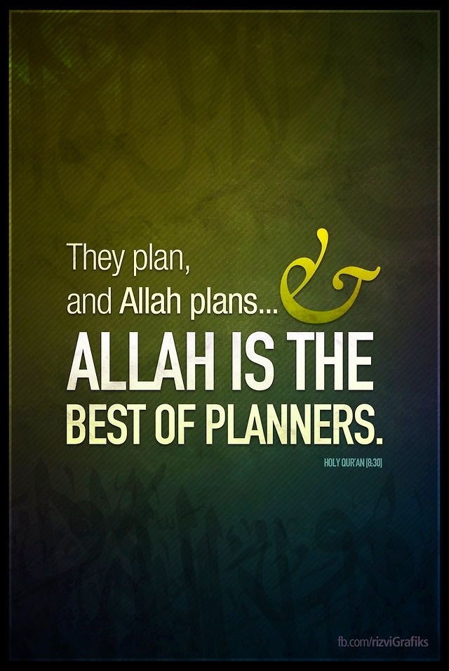 Allah is the best planner