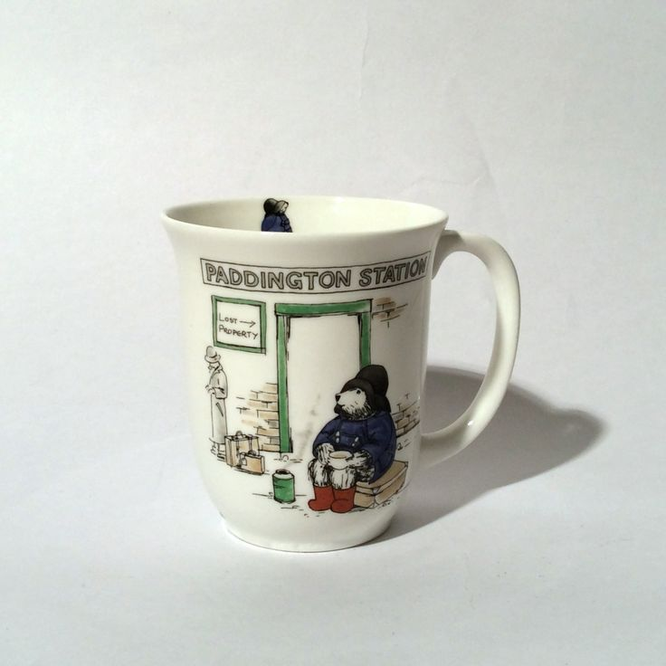 Vintage Coalport Paddington Bear Collectible Paddington Station Bine China Mug, Unused, Made in England by LOVELADYBIRDVINTAGE on Etsy