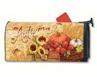 MailWraps Autumn Cart Mailbox Cover #01223 by MailWraps >  Part of Magnet Works collection of matching flags, mailbox covers, and yard signs;Attaches to metal mailboxes with magnetic strips. Adapter kit for non metal mailboxes sold separately.;Fits ... Check more at http://farmgardensuperstore.com/product/mailwraps-autumn-cart-mailbox-cover-01223-by-mailwraps/