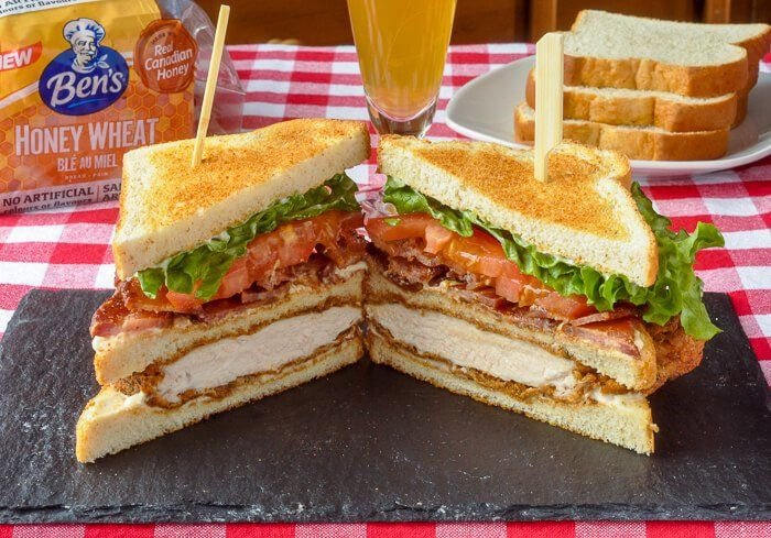 Smoked Paprika Fried Chicken Club Sandwich - Rock Recipes