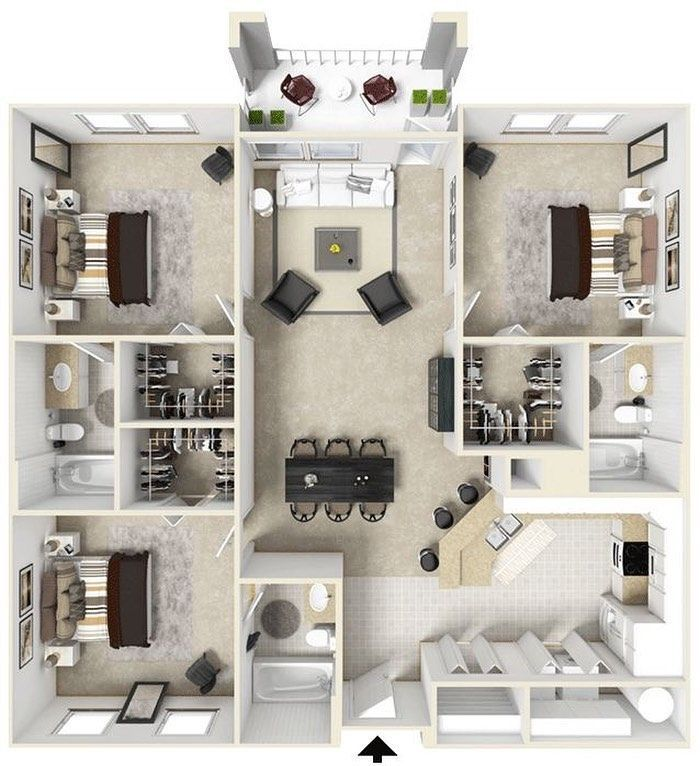 Home Inspiration And Ideas On Instagram Home Design A Really Cool Floor Plan Maximising Space Com House Layout Plans Sims House Design Sims House Plans
