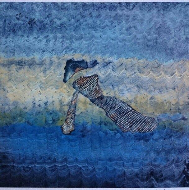 Pittura cravatta - serie nr 11 - Arimo in Arimo - year 1986 to 2015 - organic technique on cardboard