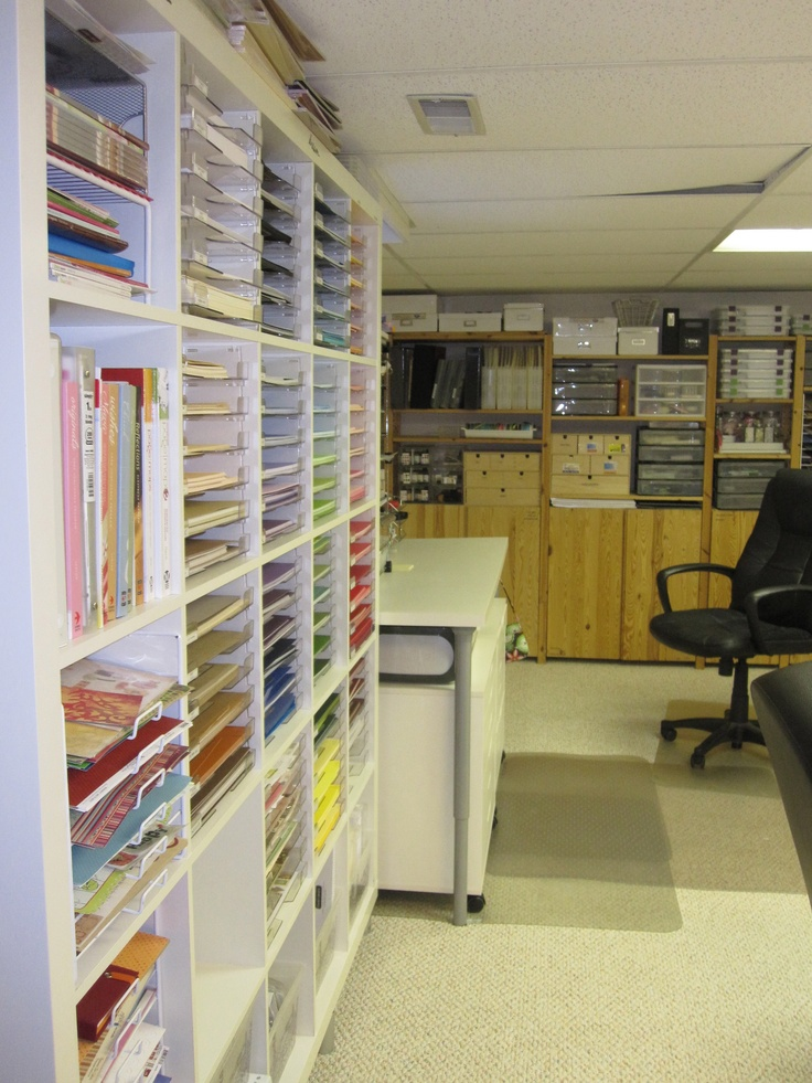 paper storage: Crafts Spaces, Paper Crafting, Crafts Rooms Storage, Scrapbook Rooms, Dreams Crafts Rooms, Crafts Storage, Crafty Storage, Scrapbook Storage, Paper Storage