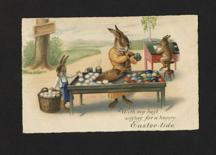 'With my best...' Easter Postcard. 5 April 1928