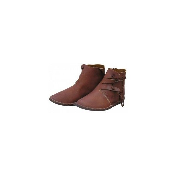 Swedish Viking shoes (230 AUD) ❤ liked on Polyvore featuring shoes, boots, medieval, grip shoes, rubber sole shoes and traction shoes