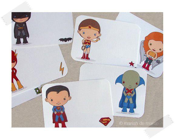 Tarjetas de superhéroes para colorear gratis Tarjetas de superhéroes para colorear y jugar. Podéis descargar gratis estos dibujos de superhéroes para imprimir y colorear.