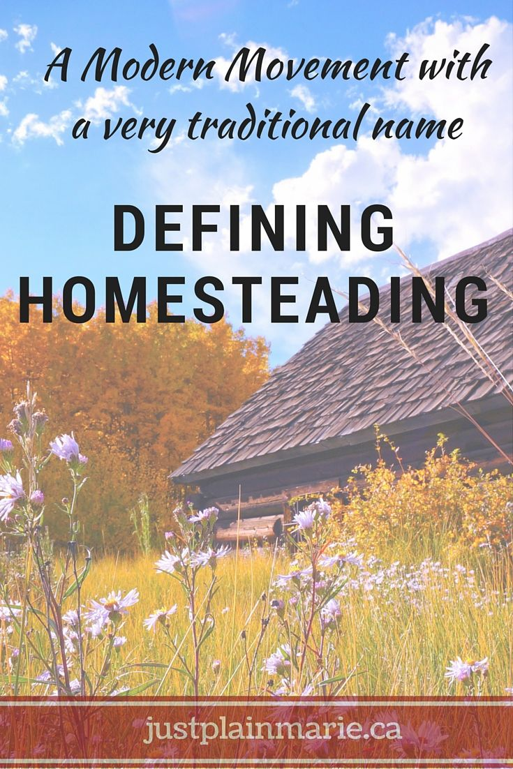 What is homesteading if your definition comes from a century ago you