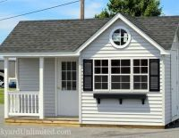 10x16 victorian shed with vinyl siding 9lite prehung door shutters porch