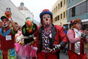 The clowns are asking the Peruvian congress to nominate May 25 as a National Clown Day