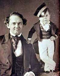 P.T. Barnum and Charles Sherwood Stratton (Tom Thumb) c. 1850