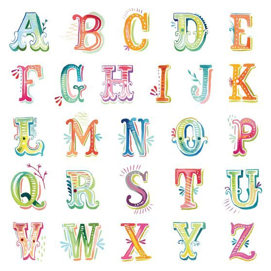 Watercolor letters decal from PBteen - these remind me of the designs by The Wheatfield; a good option to spell out a word, phrase or name just right for your room