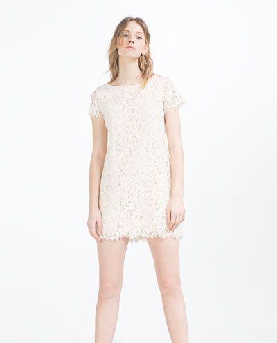 Bild 1 av KLÄNNING I GIPYRSPETS från Zara. Women's Lace DressesMini DressesSummer  WardrobeCapsule WardrobeZara United ...
