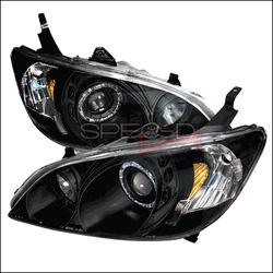 SPEC-D® - Black Halo Projector Headlights  2005 Honda Civic
