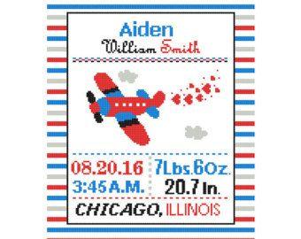 1 Cross Stitch custom Pattern Baby Boy by ZindagiDesigns on Etsy