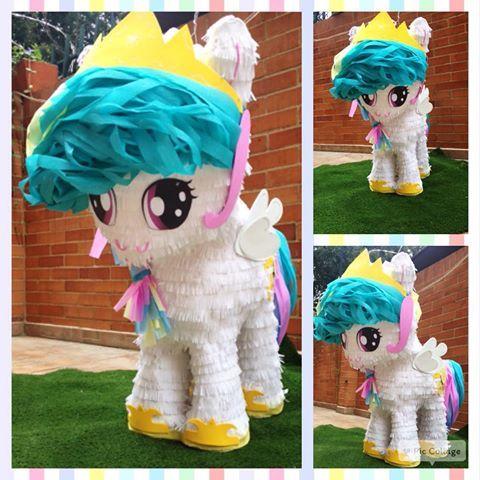 Piñata de la princesa celestia de Mi Pequeño Pony #princesscelestia #mylittlepony #mipequeñopony #piñata #fiestasinfantiles #fiestastematicas #bogota