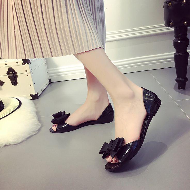Barato Designer da marca Flip Flops Mulheres Chinelos Planas Sapatos de Verão Peep Toe Grande Fita Bowtie Nó fundo plano chinelos sandálias da geléia, Compro Qualidade Chinelos diretamente de fornecedores da China:             &nbsp