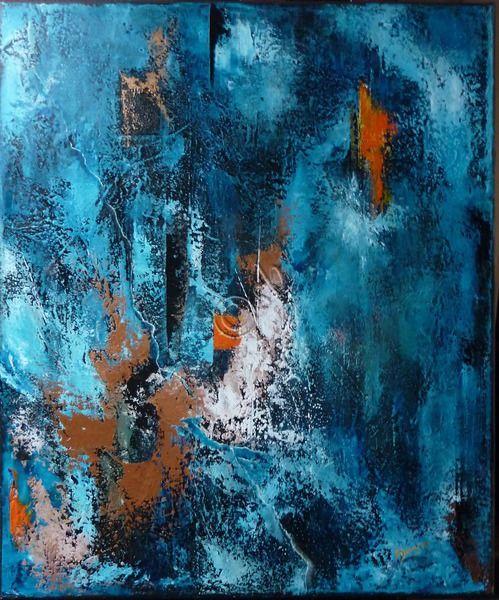 Best 25 peinture abstraite contemporaine ideas on for Peinture cuisine bleu turquoise
