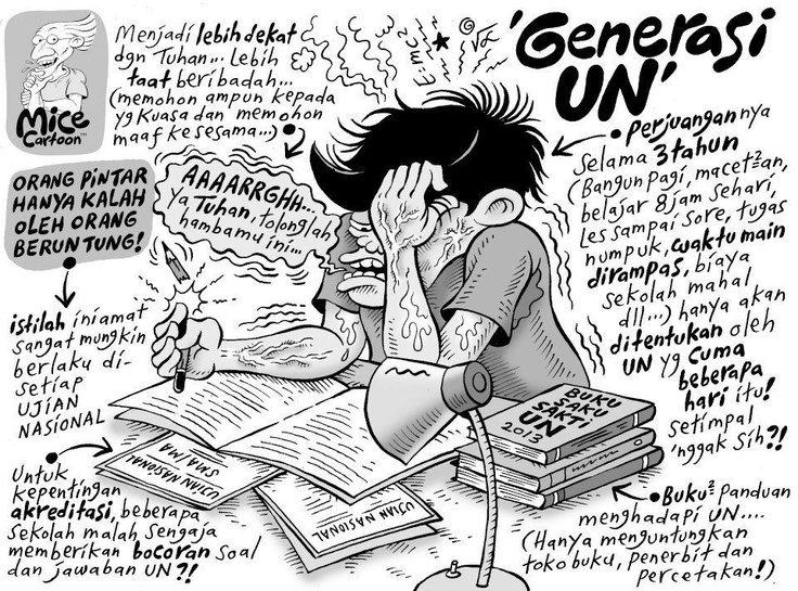 Mice Cartoon: Edisi Generasi UN (Kompas, 14 April 2013)