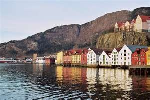 Bergen, Norway.  We had a similar view to this from the ship.