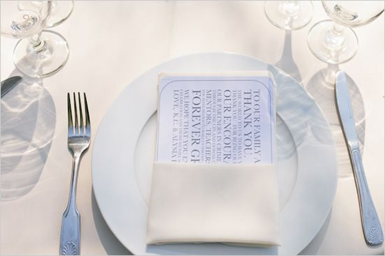 thank you napkins, saying thank you is beautiful
