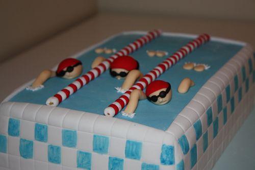cute swimmer cake
