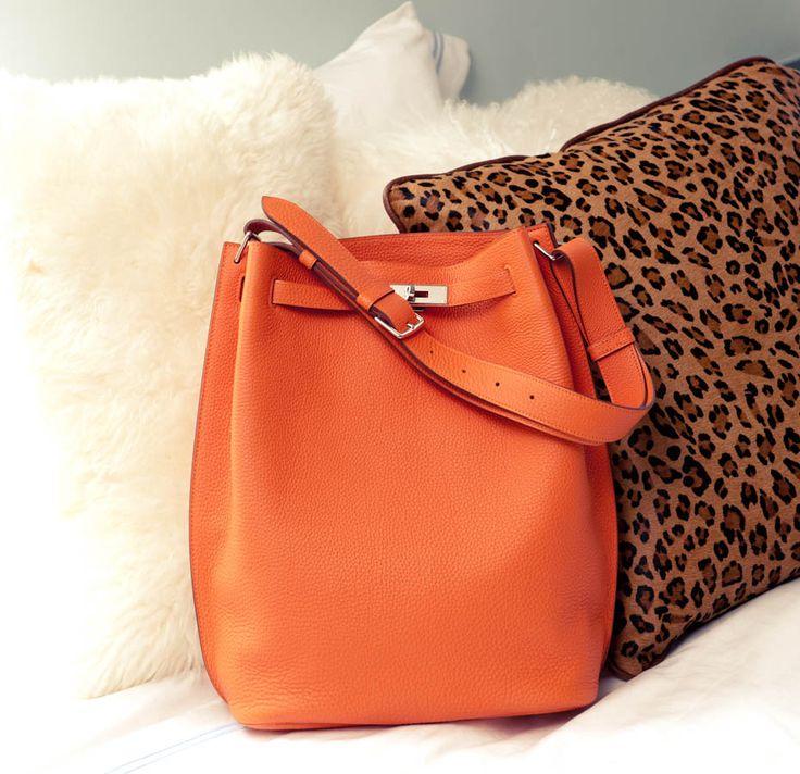 Hermès bag <3: Hand Bags, Fashion, Orange Bag, Handbags, Orange Hermes, Purses, Leopard