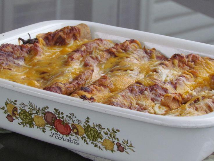 Thriving Home:  Cheesy Chicken and Black Bean Enchiladas