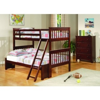 Jameson Cappuccino Twin/Full Bunkbed